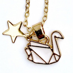 GOLD SWAN NECKLACE