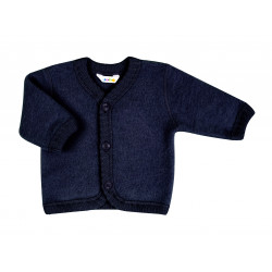 JOHA MERINO WOOL CARDIGAN BLUE