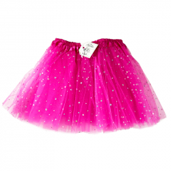 TULLE SKIRT WITH STARS - PINK
