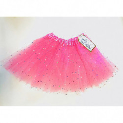 TULLE SKIRT WITH STARS - ROSE