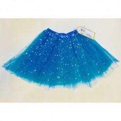 TULLE SKIRT WITH STARS - BLUE