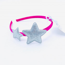 GLITTER STAR HAIRBAND SILVER