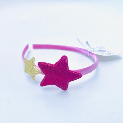 GLITTER STAR HAIRBAND GOLD