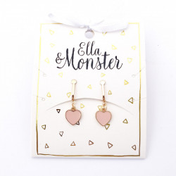 ROSE HEART CLIP ON EARRING